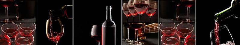 Скинали — Красное вино в бокалах и бутылках