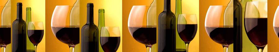 Скинали — Коллаж из винных бокалов и бутылок