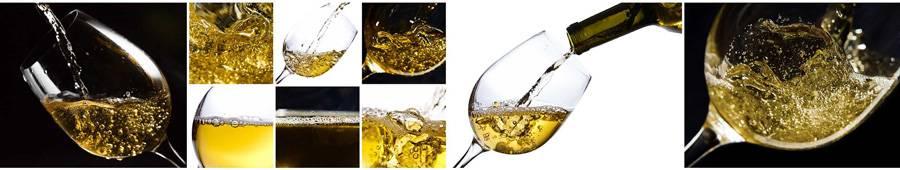 Скинали — Белое вино в красивых бокалах