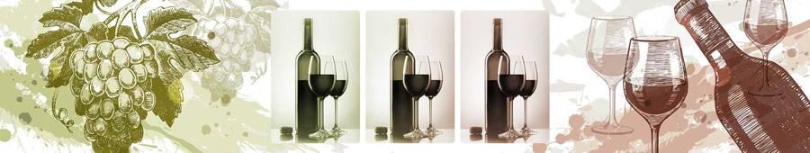 Скинали — Бутылки вина и бокалы