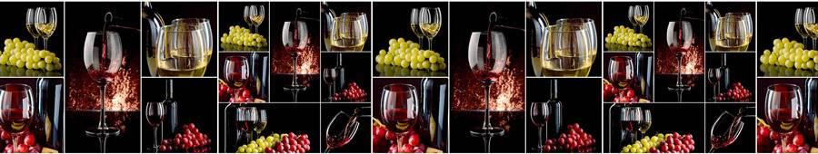 Скинали — Коллаж из винных бокалов, бутылок и винограда