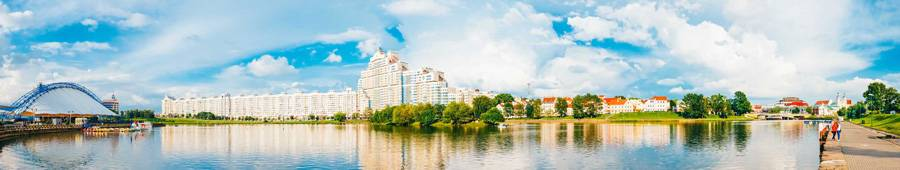 Скинали — Красивый панорамный пейзаж города
