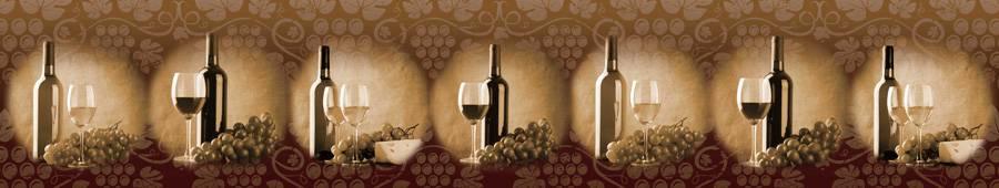 Скинали — Винные бутылки, бокалы и виноград