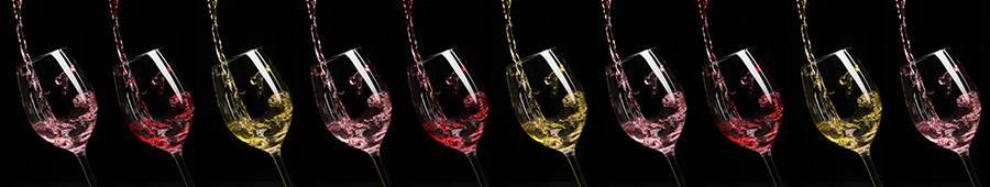 Скинали — Бокалы с красным, белым и розовым вином